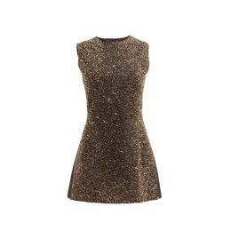 WtR Gold Sequin Embellished Sleeveless Dress