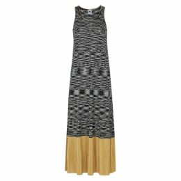 M Missoni Black Space-dye Fine-knit Maxi Dress