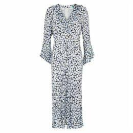 RIXO Coleen Floral-print Silk Midi Dress