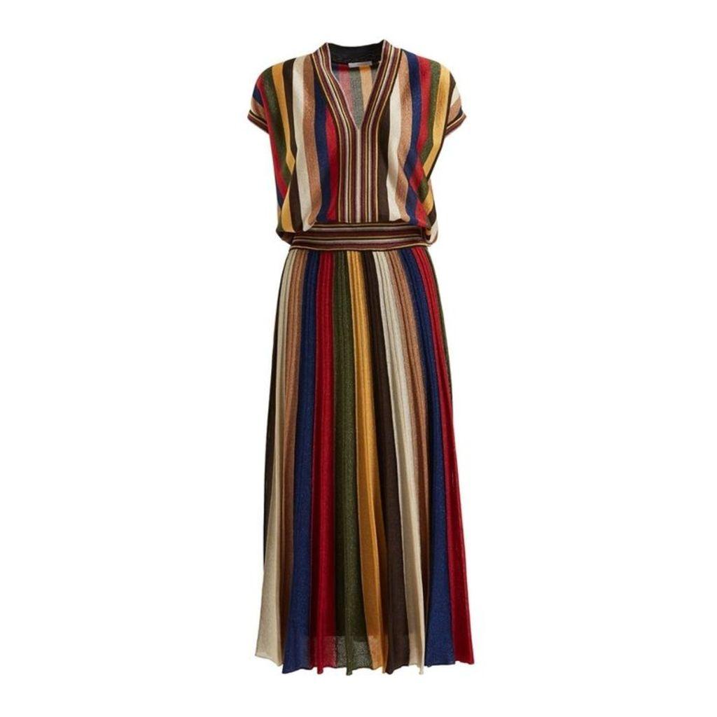 WtR Faunia Multi Lurex Knit Maxi Dress