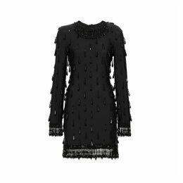 Burberry Long-sleeve Embellished Mini Dress