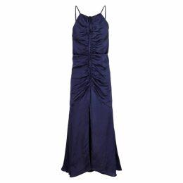 Alice McCALL Blue Moon Ruched Satin Midi Dress