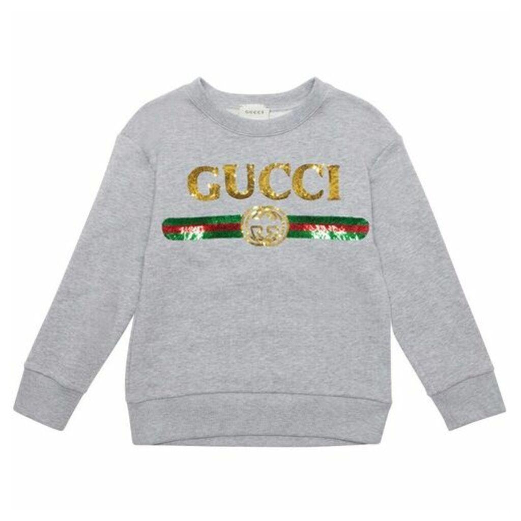Gucci Sequin Logo Sweatop