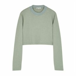 Cotton Citizen Tokyo Sage Cropped Cotton Top