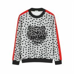Kenzo Flocked Tiger-embroidered Sweatshirt
