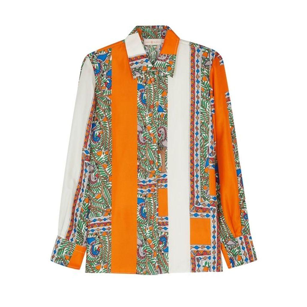 Tory Burch Printed Silk Shirt