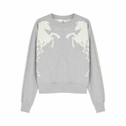 Chloé Grey Horse-print Cotton Sweatshirt