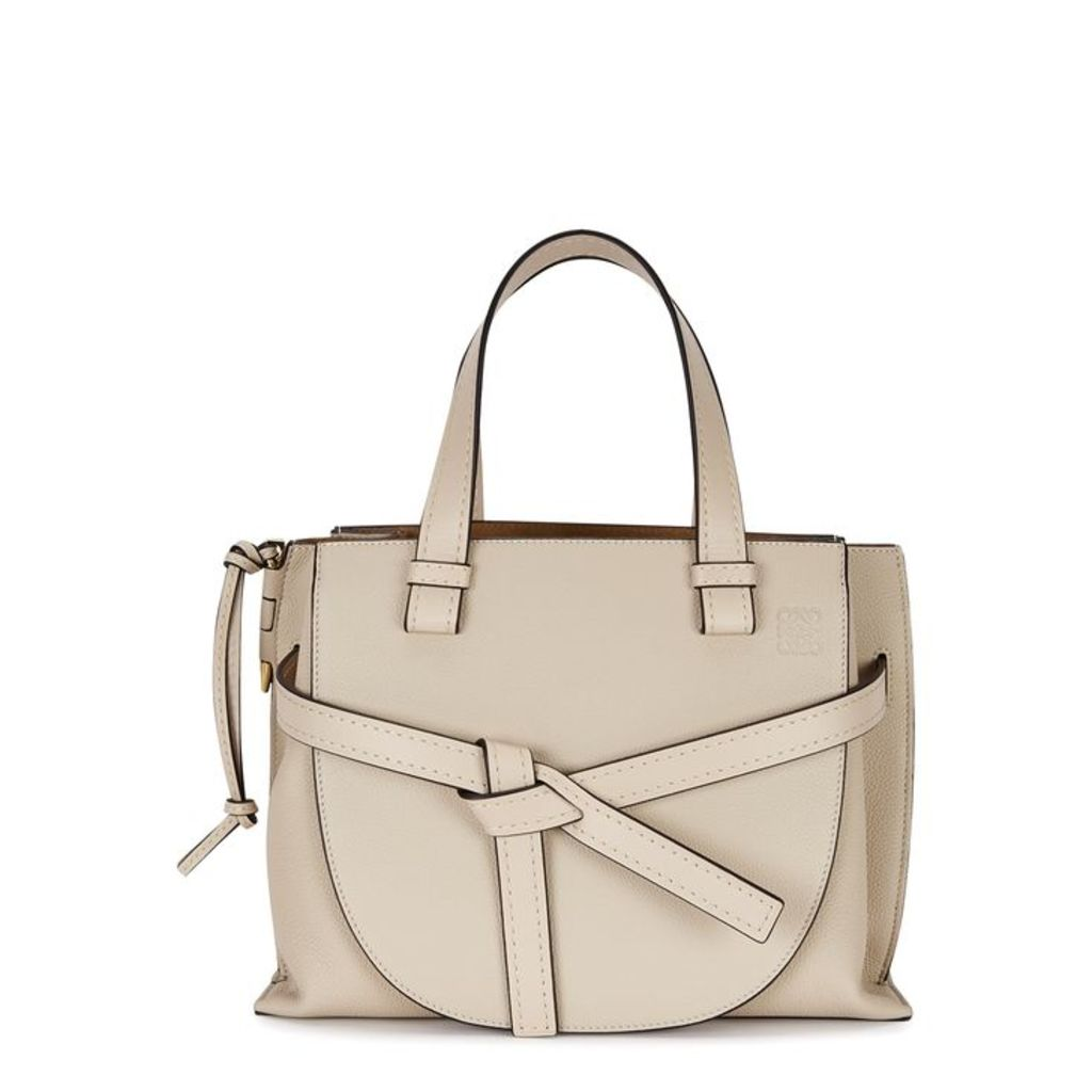 Loewe Gate Taupe Leather Top Handle Bag