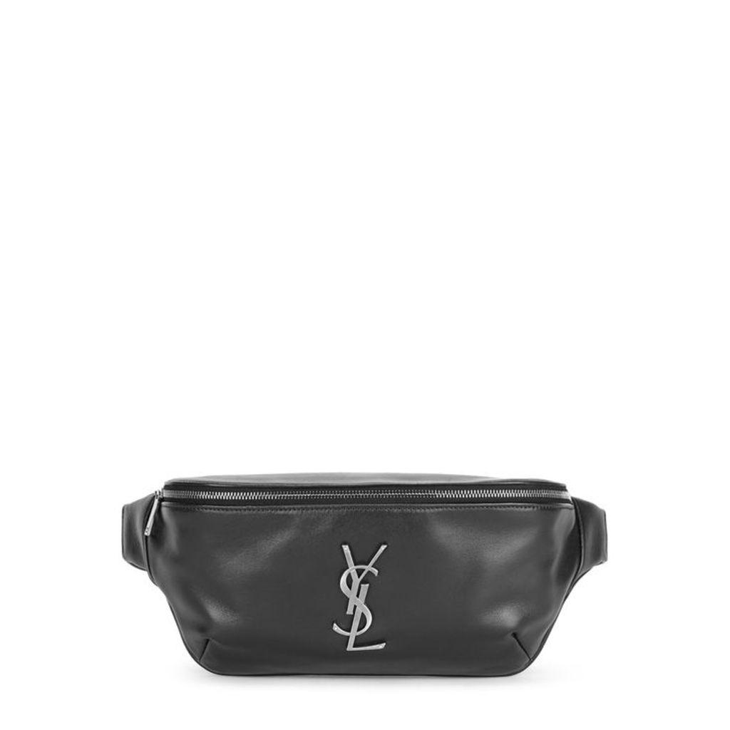 Saint Laurent Black Logo Leather Belt Bag