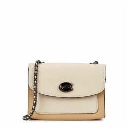 Coach Parker 18 Ivory Leather Shoulder Bag