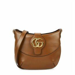 Gucci Arli Medium Brown Leather Shoulder Bag