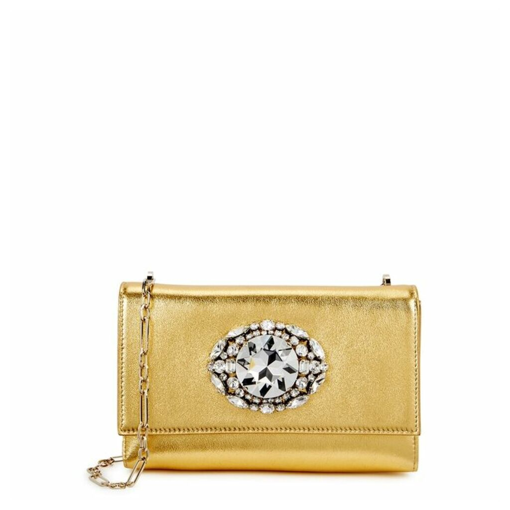 Jimmy Choo Thea Gold Cross-body Bag