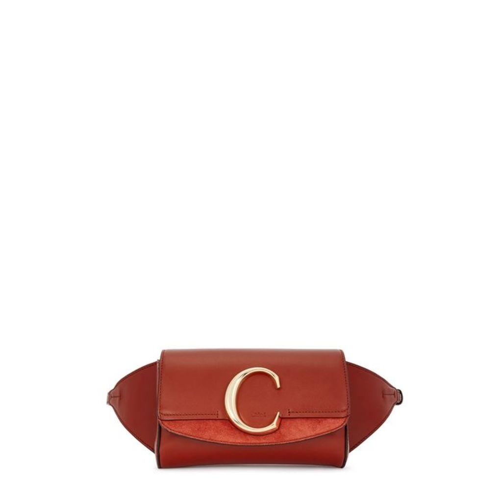 Chloé Chloé C Chestnut Leather Belt Bag