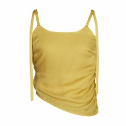 blonde gone rogue - Diagonal Sustainable Top In Yellow