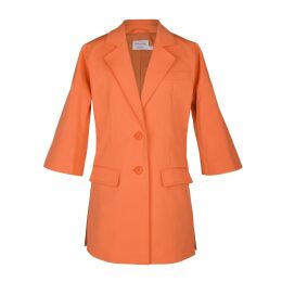 blonde gone rogue - Sustainable Long Blazer In Orange