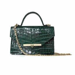 Angela Valentine Handbags - Gavi Top Handle Bag Emerald Green