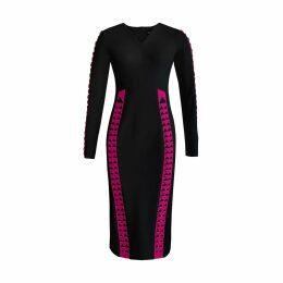 Feel me fab - Alleluja Dress In Cotton & Silk Blu Virgin Leaf