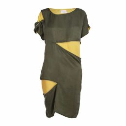 blonde gone rogue - Sustainable Zip-Me-Up Dress In Green