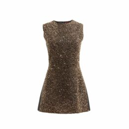 WtR - Gold Sequin Embellished Sleeveless Dress
