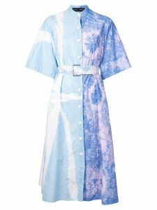 Proenza Schouler Tie Dye Shirt Dress - Blue
