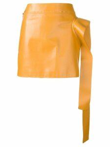 JW Anderson draped lambskin skirt - Yellow