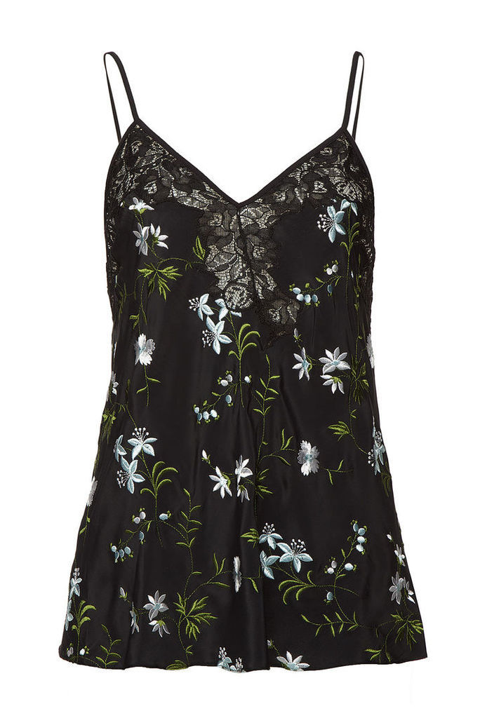 Paco Rabanne Embroidered Sleeveless Top with Silk and Lace