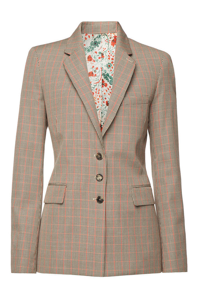 Paco Rabanne Checked Wool Blazer