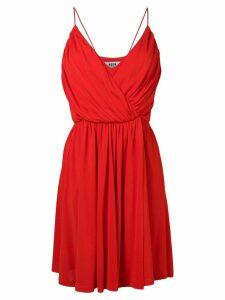 MSGM spaghetti straps dress - Red