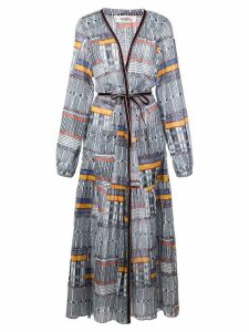 Lemlem Kente printed robe dress - Blue
