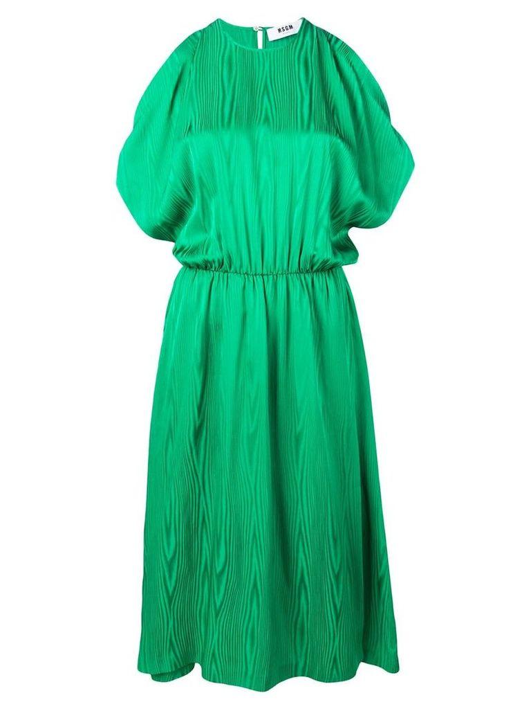 MSGM off the shoulder dress - Green