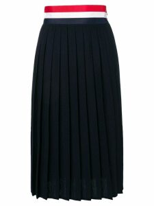 Thom Browne Rwb Grosgrain Waistband Wool Skirt - Blue