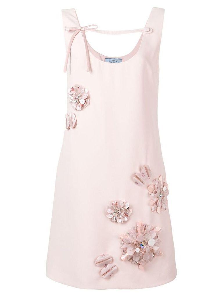 Prada floral mini dress - Pink