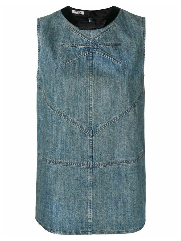 Miu Miu denim tank top - Blue