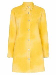 Ganni Hopewell denim mini dress - Yellow