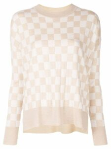 Adam Lippes check print jumper - Neutrals