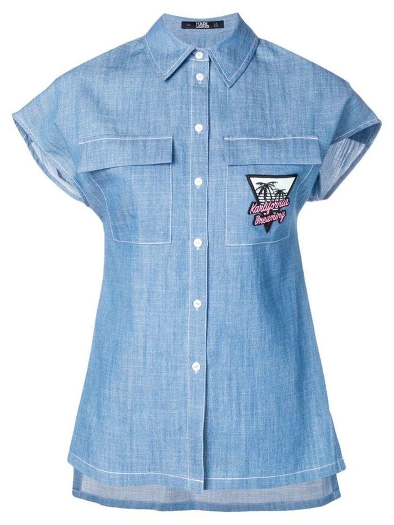 Karl Lagerfeld Karlifornia chambray shirt - Blue