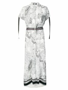 Karl Lagerfeld Karlifornia maxi shirt dress - White