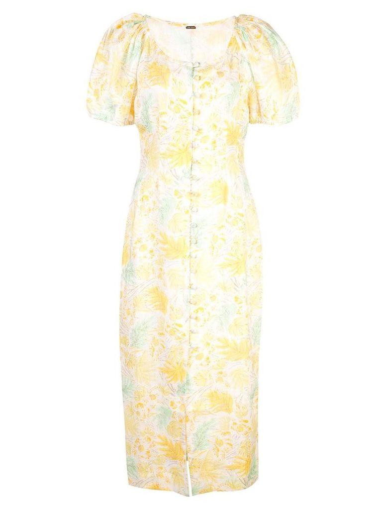 Cult Gaia charlotte dress - Yellow