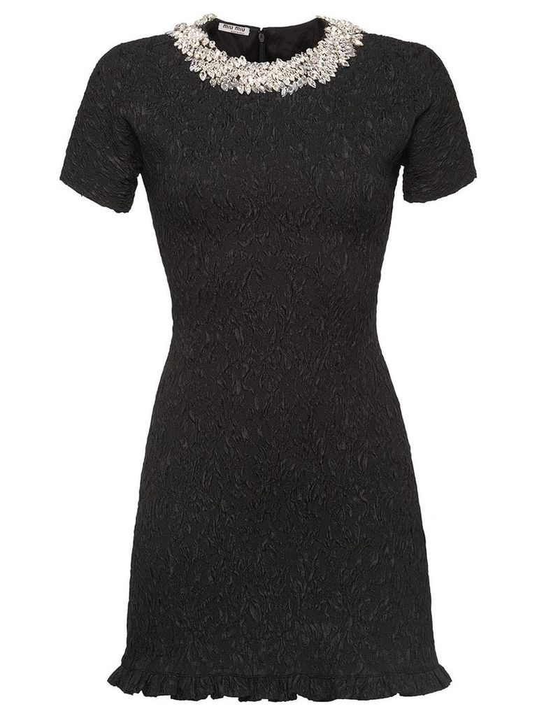 Miu Miu Cloqué dress - Black