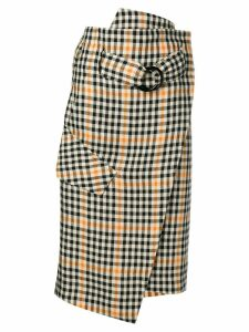 Petar Petrov gingham check skirt - Neutrals