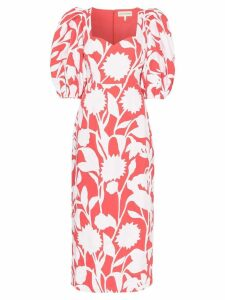 Mara Hoffman Celia floral-print cotton-blend maxi dress - Red
