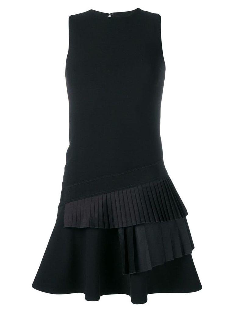 Victoria Victoria Beckham pleated trim short dress - Black