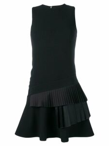 Victoria Victoria Beckham pleated trim short dress - Black