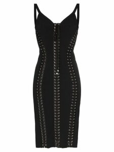 Dolce & Gabbana Cady sleeveless lace-up bodycon dress - Black