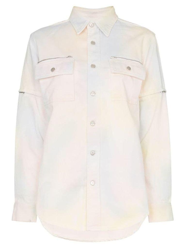 Ganni Hopewell tie-dye denim shirt - 981 Rainbow