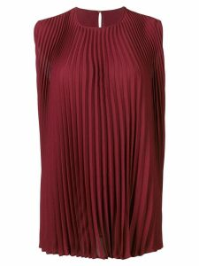 Valentino Valentino pleated top - Red