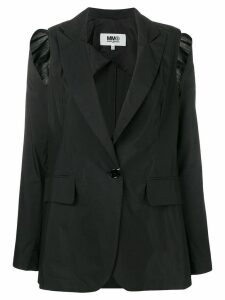 Mm6 Maison Margiela shoulder cut-out blazer - Black