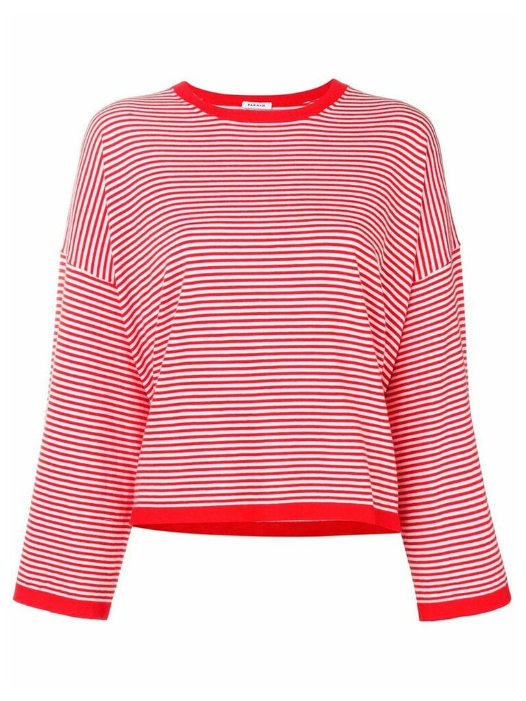 P.A.R.O.S.H. striped top - Red