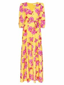 Borgo De Nor Floral-print tiered-hem maxi dress - Yellow