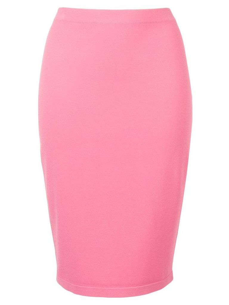 D.Exterior fitted pencil skirt - Pink